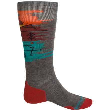 SmartWool PhD Slopestyle Light Osorno Socks - Merino Wool, Over the Calf (For Women) in Taupe - Closeouts
