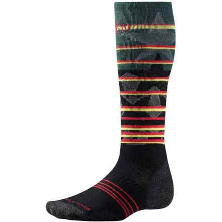 SmartWool PhD Slopestyle Lincoln Loop Socks - Merino Wool, Over the Calf (For Men and Women) in Black - Closeouts