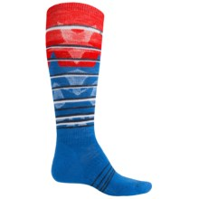SmartWool PhD Slopestyle Lincoln Loop Socks - Merino Wool, Over the Calf (For Men and Women) in Bright Blue - Closeouts
