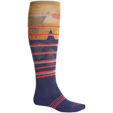 SmartWool PhD Slopestyle Lincoln Loop Socks - Merino Wool, Over the Calf (For Men and Women) in Ink - Closeouts