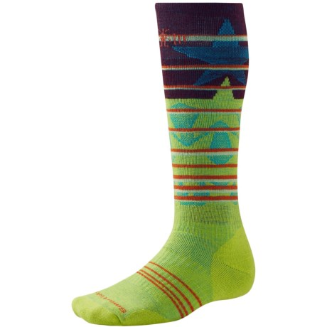 SmartWool PhD Slopestyle Lincoln Loop Socks - Merino Wool, Over the Calf (For Men and Women) in Smartwool Green