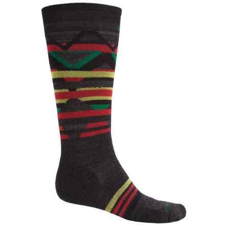 SmartWool PhD Slopestyle Margarasta Socks - Merino Wool (For Men and Women) in Black - 2nds