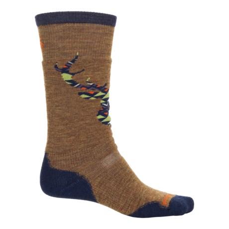 SmartWool PhD Slopestyle Medium Akaigawa Socks - Merino Wool, Over the Calf (For Men and Women) in Caramel