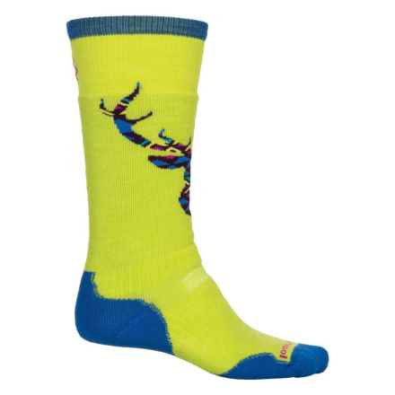 SmartWool PhD Slopestyle Medium Akaigawa Socks - Merino Wool, Over the Calf (For Men and Women) in Smartwool Green - Closeouts