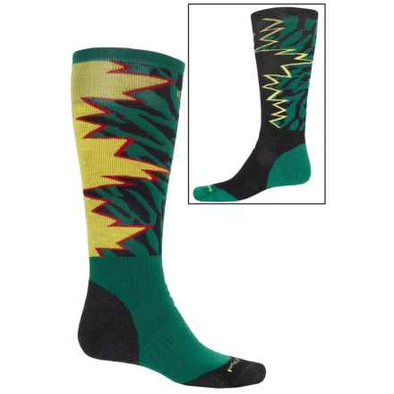 SmartWool PhD Slopestyle Medium Switch 1980 Socks - Merino Wool, Over the Calf (For Men) in Alpine Green - 2nds