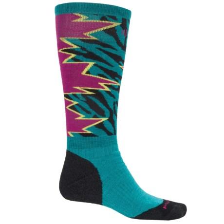 SmartWool PhD Slopestyle Medium Switch 1980 Socks - Merino Wool, Over the Calf (For Men) in Capri