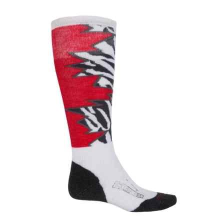 SmartWool PhD Slopestyle Medium Switch 1980 Socks - Merino Wool, Over the Calf (For Men) in White - 2nds