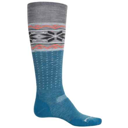 SmartWool PhD Slopestyle Medium Wenke Socks - Merino Wool, Over the Calf (For Men and Women) in Glacial Blue - Closeouts