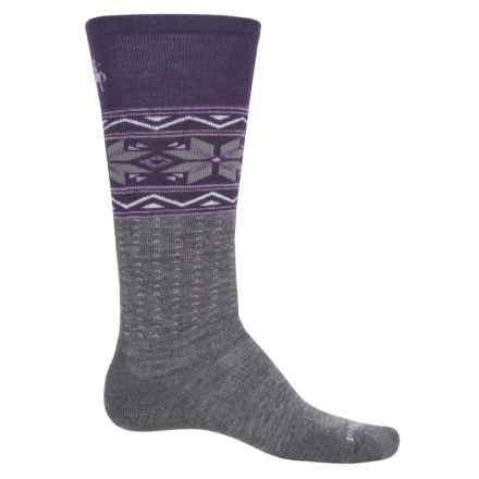 SmartWool PhD Slopestyle Medium Wenke Socks - Merino Wool, Over the Calf (For Men and Women) in Medium Gray - Closeouts