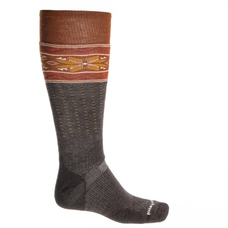 SmartWool PhD Slopestyle Midweight Socks - Merino Wool, Over the Calf (For Men and Women) in Chestnut