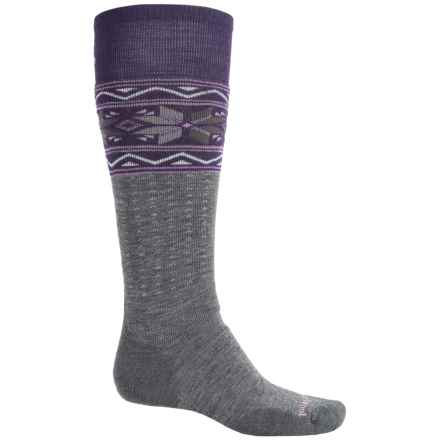 SmartWool PhD Slopestyle Midweight Socks - Merino Wool, Over the Calf (For Men and Women) in Medium Grey - 2nds