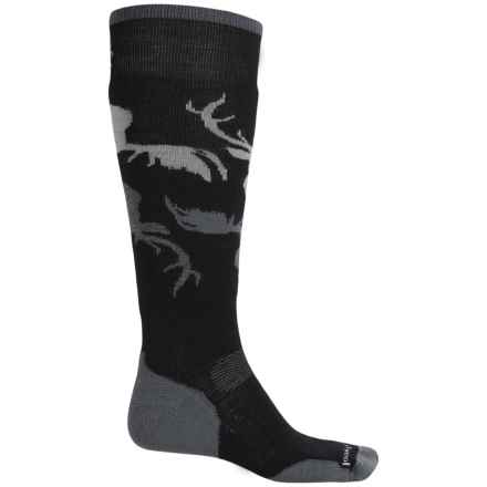 SmartWool PhD Slopestyle Revelstoke Socks - Merino Wool, Over the Calf (For Men and Women) in Black - 2nds