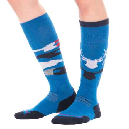 SmartWool PhD Slopestyle Revelstoke Socks - Merino Wool, Over the Calf (For Women) in Bright Blue - Closeouts