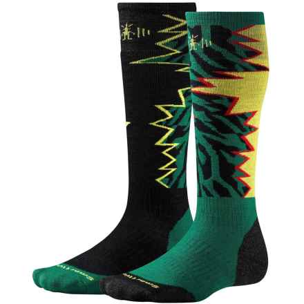 SmartWool PhD Slopestyle Switch 1980 Socks - Merino Wool, Over the Calf (For Men and Women) in Alpine Green Switch - Closeouts