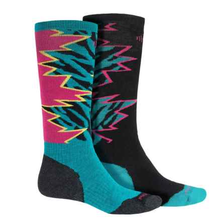 SmartWool PhD Slopestyle Switch 1980 Socks - Merino Wool, Over the Calf (For Men and Women) in Capri Switch - Closeouts