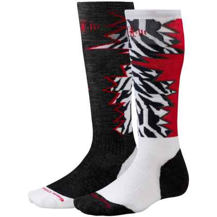 SmartWool PhD Slopestyle Switch 1980 Socks - Merino Wool, Over the Calf (For Men and Women) in White Switch - Closeouts