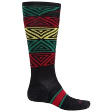 SmartWool PhD Slopestyle Switch Alley-Oop Socks - Merino Wool, Over the Calf (For Men and Women) in Black - Closeouts