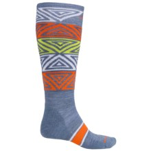 SmartWool PhD Slopestyle Switch Alley-Oop Socks - Merino Wool, Over the Calf (For Men and Women) in Blue Steel - Closeouts