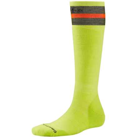 SmartWool PhD Slopestyle Tube Socks - Merino Wool, Over the Calf (For Men and Women) in Smartwool Green - 2nds
