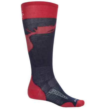 SmartWool PhD Slopestyle Ultralight La Grave Ski Socks - Mid Calf (For Men and Women in Deep Navy - 2nds