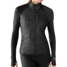 SmartWool PhD SmartLoft Divide Midlayer Jacket (For Women) in Black - Closeouts