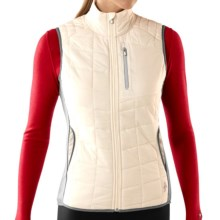 SmartWool PhD SmartLoft Divide Vest - Merino Wool, Insulated (For Women) in Natural/Alloy - Closeouts