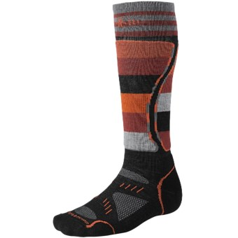 SmartWool PhD Snowboard Light Socks - Merino Wool (For Men and Women) in Black/Red