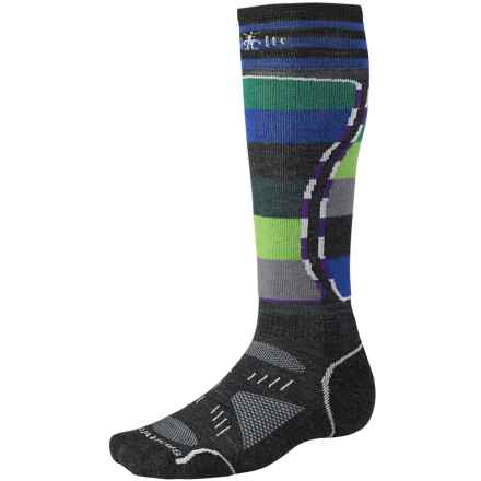 SmartWool PhD Snowboard Light Socks - Merino Wool (For Men and Women) in Charcoal - 2nds
