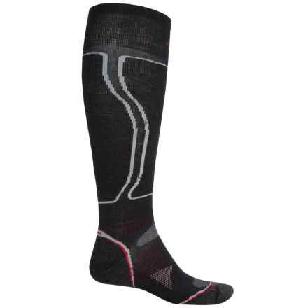 SmartWool PhD Snowboard Light Socks - Merino Wool, Over the Calf (For Men and Women) in Black - Closeouts