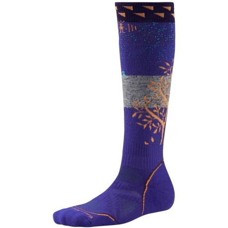 SmartWool PhD Snowboard Medium Socks - Merino Wool, Midweight, Over-the-Calf (For Women) in Liberty