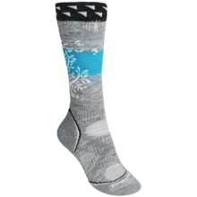 SmartWool PhD Snowboard Medium Socks - Merino Wool, Midweight, Over-the-Calf (For Women) in Light Grey - 2nds
