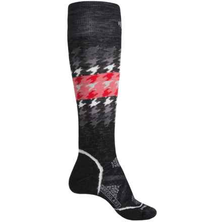 SmartWool PhD Snowboard Medium Socks - Merino Wool, Over the Calf (For Women) in Black - 2nds
