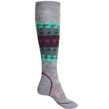 SmartWool PhD Snowboard Medium Socks - Merino Wool, Over the Calf (For Women) in Light Gray - 2nds
