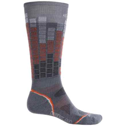 SmartWool PhD Snowboard Pattern Socks - Merino Wool, Over the Calf (For Men and Women) in Graphite - 2nds