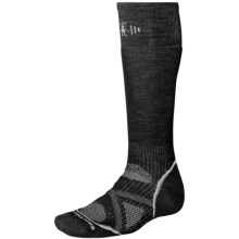 SmartWool PhD Snowboard Socks - Merino Wool, Midweight, Over-the-Calf (For Men and Women) in Black - 2nds