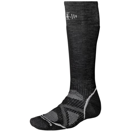 SmartWool PhD Snowboard Socks - Merino Wool, Midweight, Over-the-Calf (For Men and Women) in Black