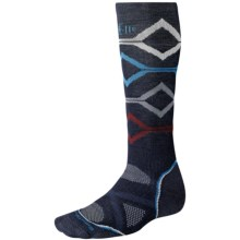 SmartWool PhD Snowboard Socks - Merino Wool, Midweight, Over-the-Calf (For Men and Women) in Navy - 2nds