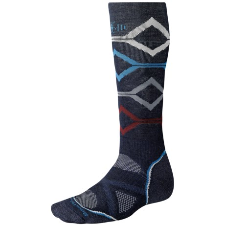 SmartWool PhD Snowboard Socks - Merino Wool, Midweight, Over-the-Calf (For Men and Women) in Navy