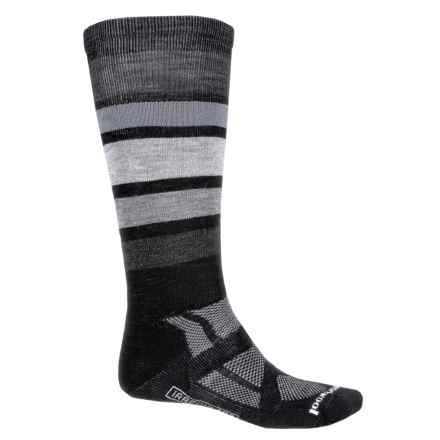 SmartWool PhD Snowboard Socks - Merino Wool, Over the Calf (For Men) in Black - 2nds