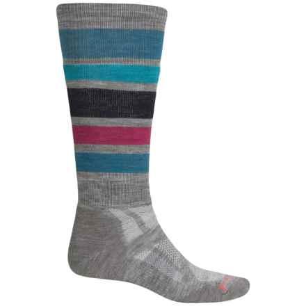 SmartWool PhD Snowboard Socks - Merino Wool, Over the Calf (For Men) in Light Gray - 2nds