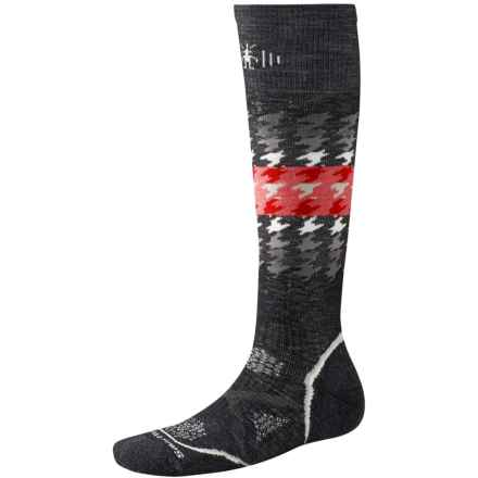 SmartWool PhD Snowboard Socks - Merino Wool, Over the Calf (For Women) in Black - Closeouts