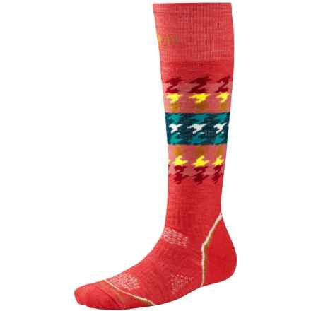 SmartWool PhD Snowboard Socks - Merino Wool, Over the Calf (For Women) in Hibiscus - Closeouts