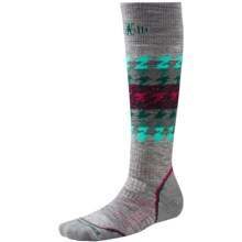 SmartWool PhD Snowboard Socks - Merino Wool, Over the Calf (For Women) in Light Gray - Closeouts