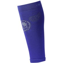 SmartWool PhD Thermal Compression Calf Sleeves - Merino Wool (For Women) in Chestnut Heather/Liberty - 2nds