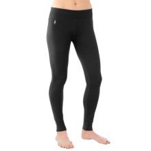 SmartWool PhD Tights - Merino Wool, Mid Rise (For Women) in Black - Closeouts