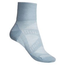 SmartWool PhD Ultra Light Mini Crew Socks - Merino Wool (Women) in Blue Teal - 2nds