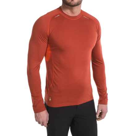 SmartWool PhD Ultralight Base Layer Top - Merino Wool, Long Sleeve (For Men) in Moab Rust - Closeouts