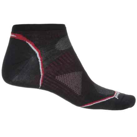 SmartWool PhD Ultralight Cycle Socks - Merino Wool, Below the Ankle (For Men) in Black - Closeouts