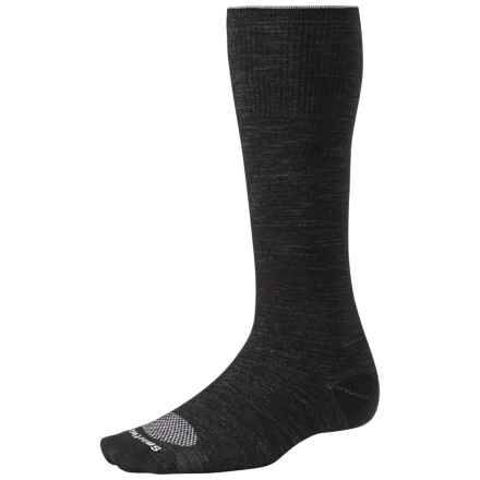 SmartWool PhD Ultralight Graduated Compression Socks - Merino Wool (For Men and Women) in Black/Silver - 2nds