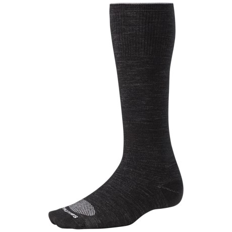 SmartWool PhD Ultralight Graduated Compression Socks - Merino Wool (For Men and Women) in Silver/White